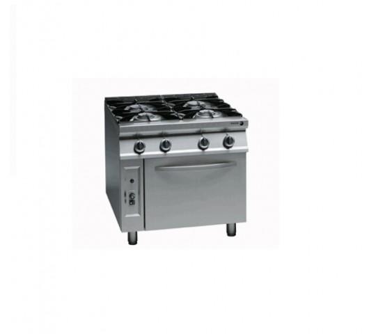 四頭煮食爐連下焗爐(石油氣/煤氣)
